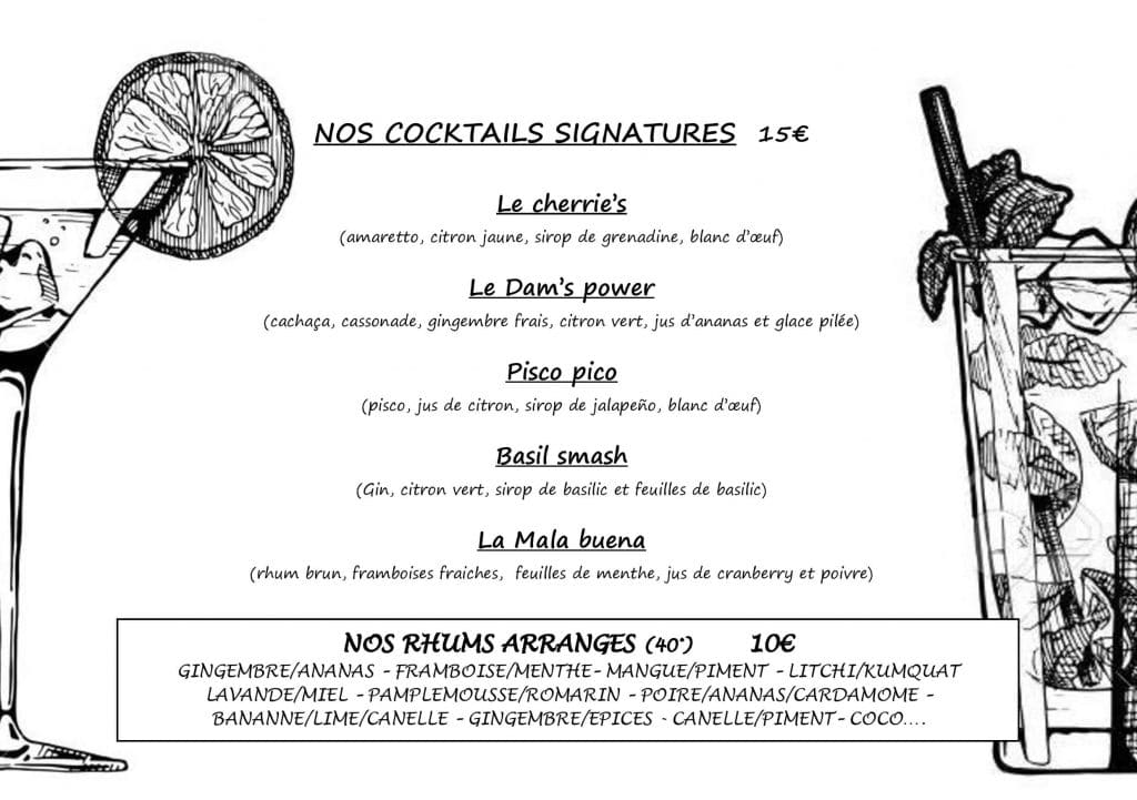 cocktails signatures Eden Plage Mala